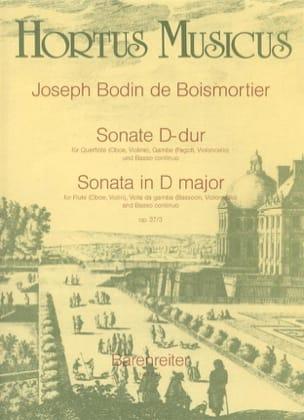 BOISMORTIER - D-Dur Sonata - Oboe Flute, Violin, Viola da Gamba Fagott, Cello u. Bc - Sheet Music - di-arezzo.com