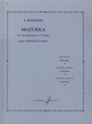 F. Ronchini - Mazurka - Partition - di-arezzo.fr