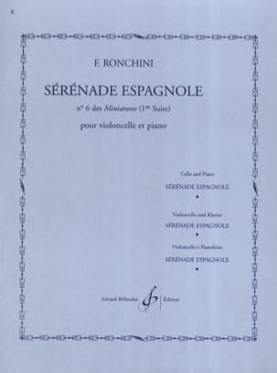 F. Ronchini - Spanish serenade - Sheet Music - di-arezzo.com