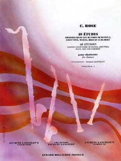 Cyrille Rose - 40 Etudes Volume 1 - Partition - di-arezzo.fr