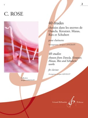 40 Etudes Volume 2 Cyrille Rose Partition Clarinette - laflutedepan