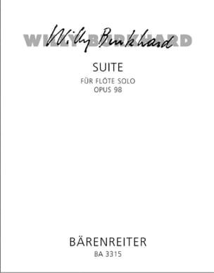 Suite op. 98 Willy Burkhard Partition Flûte traversière - laflutedepan