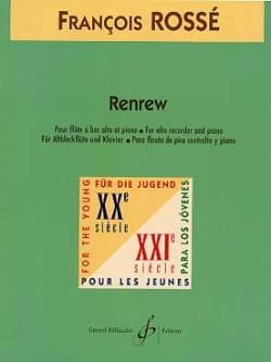 Renrew - Francois Rossé - Partition - Flûte à bec - laflutedepan.com