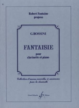 Fantaisie - ROSSINI - Partition - Clarinette - laflutedepan.com
