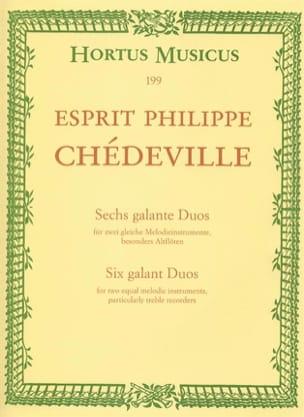 Philippe Esprit (L'Aîné) Chédeville - 6 Galante Duos - 2 Altblockflöten - Partition - di-arezzo.fr