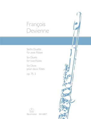 François Devienne - 6 Duette op. 75/2 - 2 Flöten - Sheet Music - di-arezzo.co.uk