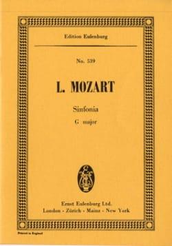 Leopold Mozart - Sinfonia G-Dur für Streicher - Partition - di-arezzo.fr