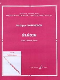 Philippe Rougeron - Elégie - Partition - di-arezzo.fr