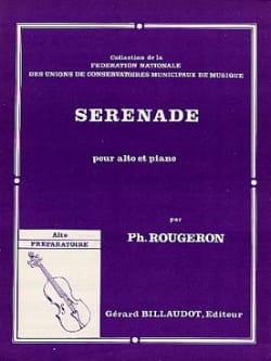 Sérénade - Philippe Rougeron - Partition - Alto - laflutedepan.com