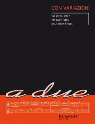 Con variazioni - 2 Flöten Partition Flûte traversière - laflutedepan