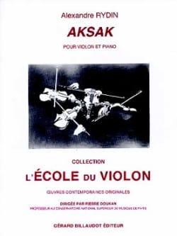 Aksak - Alexandre Rydin - Partition - Violon - laflutedepan.com