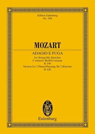 Adagio Und Fuge C-Moll - Conducteur - MOZART - laflutedepan.com