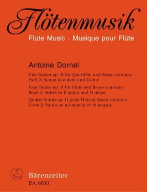 Antoine Dornel - 4 Suiten, op. 2 - Heft 2 – Flöte u. Basso continuo - Partition - di-arezzo.fr
