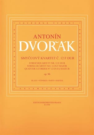DVORAK - Streichquartett Nr. 12 in F-Dur op. 96 - parts - Sheet Music - di-arezzo.co.uk