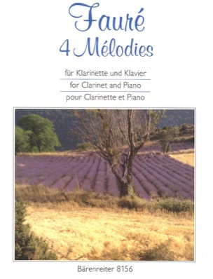 Gabriel Fauré - 4 Melodies. arranged for clarinet and piano - Sheet Music - di-arezzo.com