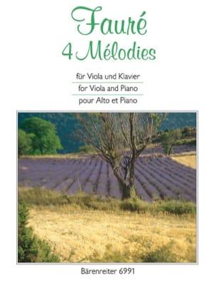 4 Mélodies - Gabriel Fauré - Partition - Alto - laflutedepan.com