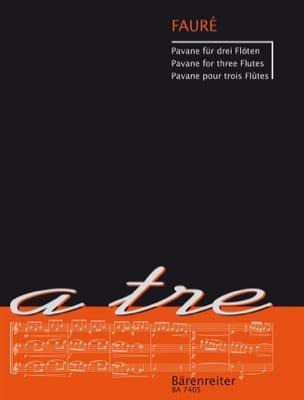 Pavane - 3 Flûtes FAURÉ Partition Flûte traversière - laflutedepan