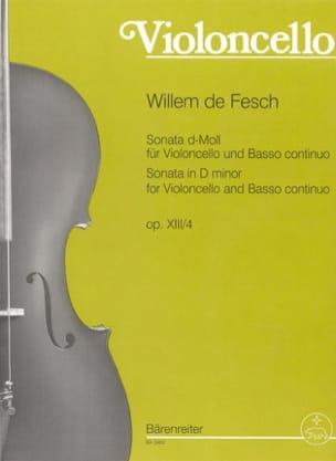Sonate op. 13 n° 4, ré mineur - Willem de Fesch - laflutedepan.com