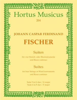 Johann Kaspar Fischer - 2 Suiten - 4 Streichinstr. o. Blaserinstr. u. Bc - Sheet Music - di-arezzo.co.uk