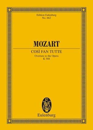 MOZART - Cosi Fan Tutte, Ouverture - Partition - di-arezzo.fr
