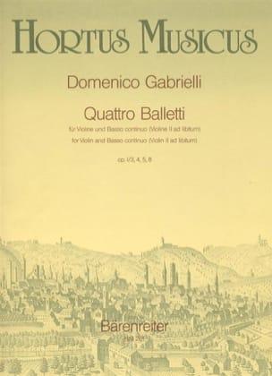 Quattro Balletti op. 1 n° 3, 4, 5, 8 Domenico Gabrielli laflutedepan