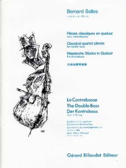 Pièces classiques en quatuors Bernard Salles Partition laflutedepan