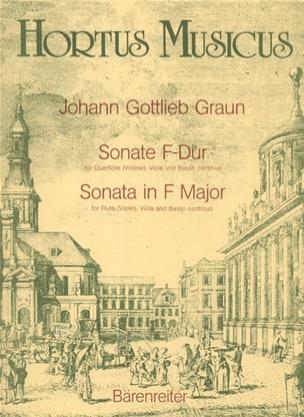 Johann Gottlieb Graun - Sonate F-dur – Flöte (Violine), Viola und Basso continuo - Partition - di-arezzo.fr