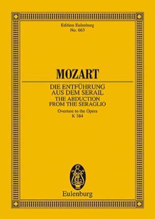 MOZART - Die Entführung aus dem Serail KV 384 - Ouvertüre - Partitur - Partition - di-arezzo.fr
