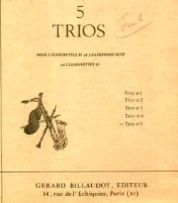 5 Trios n° 5 - Noël Samyn - Partition - Clarinette - laflutedepan.com