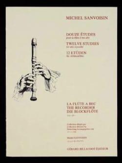 12 Etudes - flûte à bec alto Michel Sanvoisin Partition laflutedepan