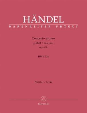 Georg Friedrich Haendel - Concerto Grosso op. 6 Nr. 6 g-moll –Partitur - Partition - di-arezzo.fr