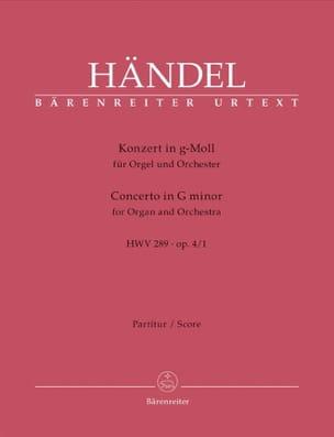 Orgel-Konzert g-Moll op. 4/1 HWV 289 -Partitur - laflutedepan.com