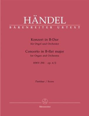 Orgel-Konzert B-Dur op. 4/2 HWV 290 - Partitur - laflutedepan.com