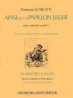 Domenico Scarlatti - Ainsi qu'un papillon léger – Flûte piano - Partition - di-arezzo.fr