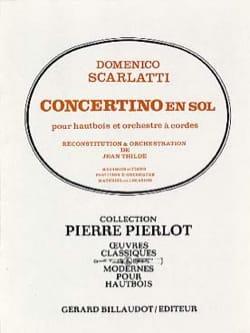 Domenico Scarlatti - Concertino en sol pour hautbois - Partition - di-arezzo.fr