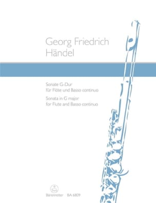 Sonate G-Dur - Flöte und Bc - HAENDEL - Partition - laflutedepan.com