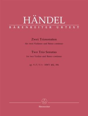 2 Triosonaten op. 5 n° 1 und 7 HWV 402, 396 -Stimmen laflutedepan