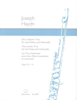 HAYDN - The London Trios - 2 Flöten-Violoncello 2 Flûtes-Violoncelle - Partition - di-arezzo.fr