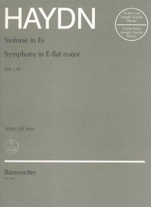 Joseph Haydn - Symphonie N° 99 Es-Dur – Partitur - Partition - di-arezzo.fr