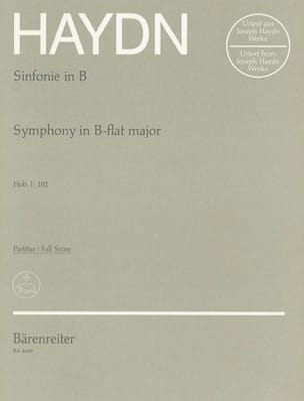 Symphonie Nr. 102 B-Dur - Partitur HAYDN Partition laflutedepan