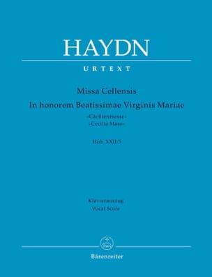 Joseph Haydn - Missa Cellensis Hob. 22: 5 – Partitur - Partition - di-arezzo.fr