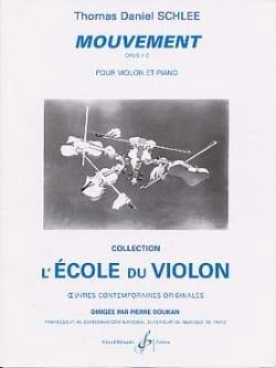 Thomas Daniel Schlee - Mouvement op. 7 C - Partition - di-arezzo.fr