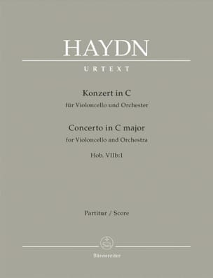 Violoncello-Konzert C-Dur Hob 7b:1 - Partitur HAYDN laflutedepan