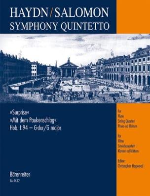 Haydn Joseph / Salomon Johann Peter - Symphony Quintetto Surprise Hob. 1 : 94 - Partitur + Stimmen - Partition - di-arezzo.fr
