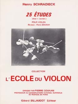 Henry Schradieck - 25 Etudes Op. 1 Cahier 2 - Partition - di-arezzo.fr