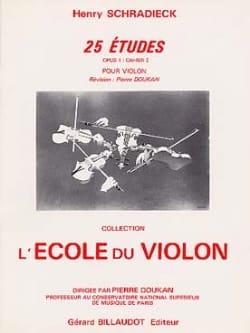 25 Etudes Op. 1 Cahier 2 Henry Schradieck Partition laflutedepan