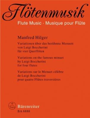 Variations sur le célèbre Menuet de Boccherini - 4 Flûtes - laflutedepan.com