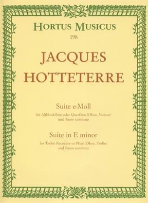 Jacques (Le romain) Hotteterre - Suite E-Moll – Altblockflöte O. Querflöte U. Bc Op 5 N° 2 - Partition - di-arezzo.fr