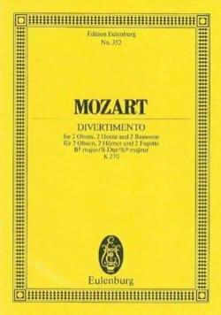 Divertimento Nr. 14 B-Dur - MOZART - Partition - laflutedepan.com