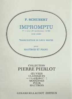 Impromptu n° 3 op. 142 - Hautbois SCHUBERT Partition laflutedepan
